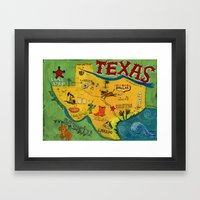 Postcard From Texas Prin… Framed Art Print