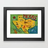 Postcard From Texas Prin… Framed Art Print