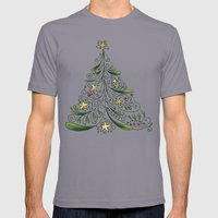 Christmas Tree Mens Fitted Tee Slate SMALL