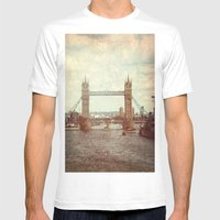 Tower Bridge 2 Mens Fitted Tee White SMALL