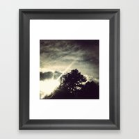 Sun Setting Threw The Tr… Framed Art Print