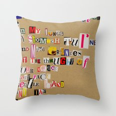 Stale Cigarettes Throw Pillow