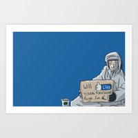 Will Like Your Facebook … Art Print