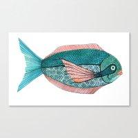 Canvas Print featuring fishy by laura mckellar