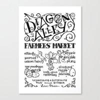 Diagon Alley Farmers' Market Canvas Print