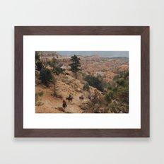 Riding through the Canyons  Framed Art Print