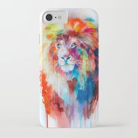 lion iPhone & iPod Cases featuring Lion by Slaveika Aladjova