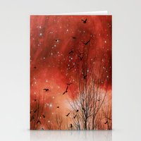 Stationery Card featuring Red Night by The Strange Days Of Gothicolors
