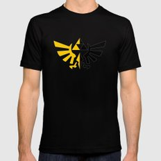 Legend Of Zelda Triforce Black Mens Fitted Tee SMALL