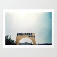 Sunrise Apartments Art Print