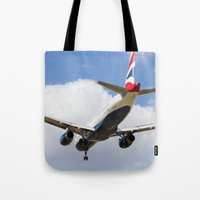 British Airways Airbus A320 Tote Bag