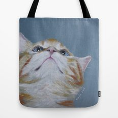 Juno. The Bird Catcher. Pastel Kitten Tote Bag
