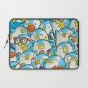 Penguin Crowd Laptop Sleeve