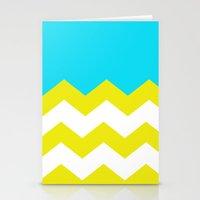 Bright Zig-Zag Stationery Cards