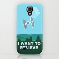 Galaxy S4 Cases featuring I WANT TO BELIEVE - Star Wars by John Medbury (LAZY J Studios)