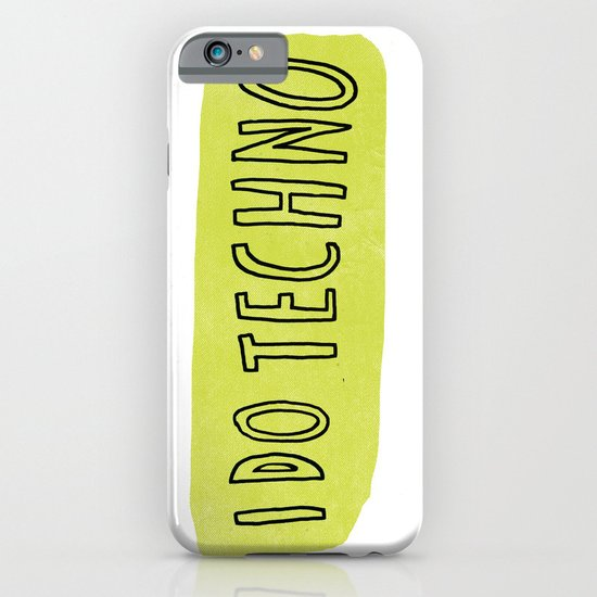i do techno iPhone & iPod Case