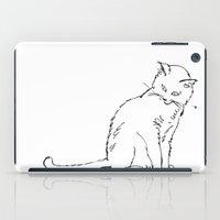 Cat illustration iPad Case