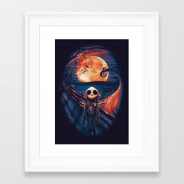 Framed Art Print - The Scream After Christmas - nicebleed