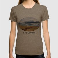13,000 Feet Womens Fitted Tee Tri-Coffee SMALL