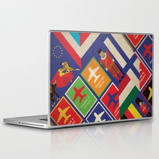 EU Travel Poster Laptop & iPad Skin