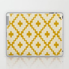 Navajo Diamonds Ivory on Gold Laptop & iPad Skin