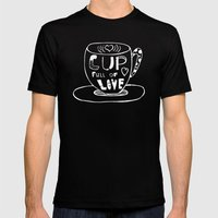 Cup Full Of Love Chalkbo… Mens Fitted Tee Black SMALL