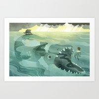 Jonah Tossed Overboard (… Art Print
