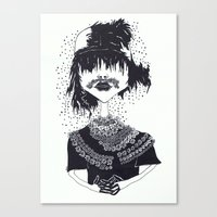 The Other Girl With The … Canvas Print