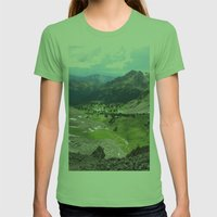 Willow Lakes Womens Fitted Tee Grass SMALL