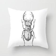 Lucanus cervus Throw Pillow