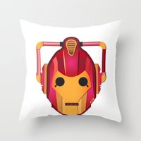 Cyber Iron Man Throw Pillow