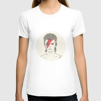 David Womens Fitted Tee White SMALL
