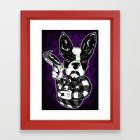 French Bulldog Gangster  Framed Art Print