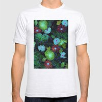 Oriental Blossom (night … Mens Fitted Tee Ash Grey SMALL