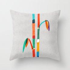 Couple of Bamboo Throw Pillow