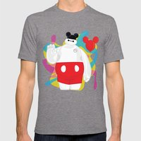 Baymax Mens Fitted Tee Tri-Grey SMALL