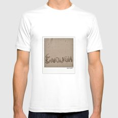 Enough! SMALL White Mens Fitted Tee