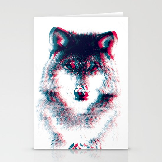 Act like a wolf.  Stationery Card