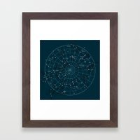 Space Hangout Framed Art Print