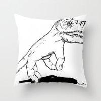 Handosaurus Rex Throw Pillow