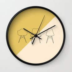 Eames Chairs Wall Clock