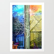 Outside View Art Print
