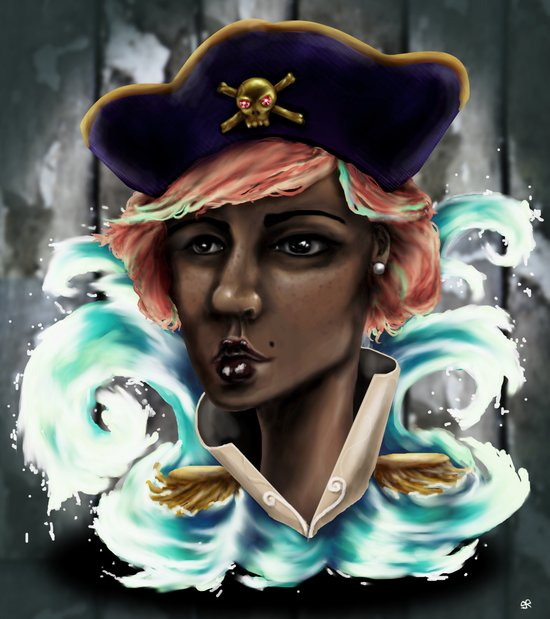 Captain Squid Lips Marque Art Print