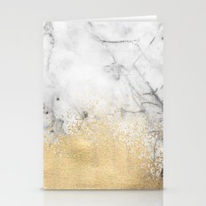 Gold Dust on Marble Stationery Cards