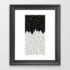 Diamond Peaks Framed Art Print