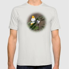 Orange Tip Butterfly Mens Fitted Tee Silver SMALL
