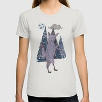 COYOTE Womens Fitted Tee Silver SMALL