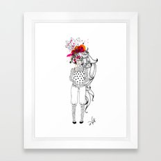 the tattooed girl Framed Art Print