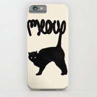 iPhone & iPod Case featuring Meow by Speakerine / Florent…