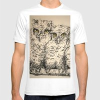 Owls 2.5 Mens Fitted Tee White SMALL
